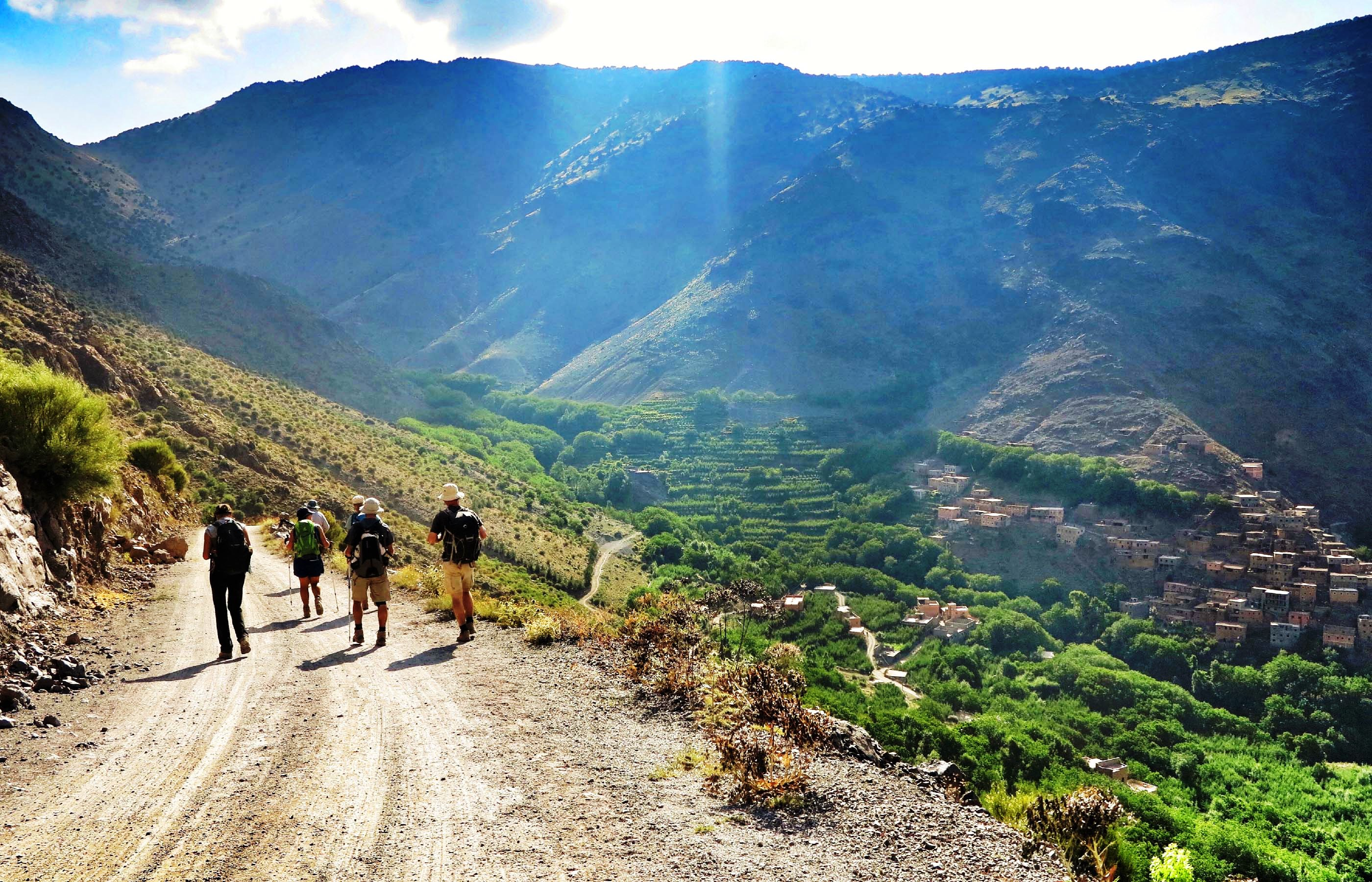06 days hiking tours to Atlas Mountains from Marrakech in Morocco
