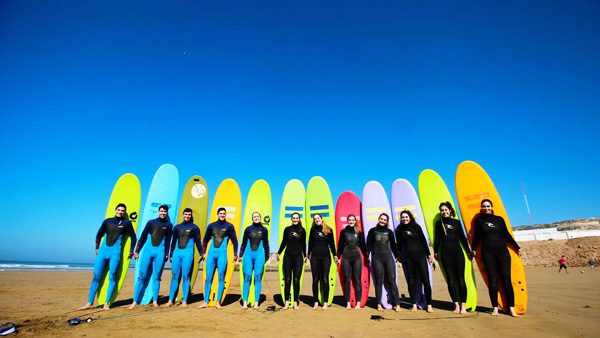 morocco surfing holidays in dakhla beach south of morocco to enjoy the waves